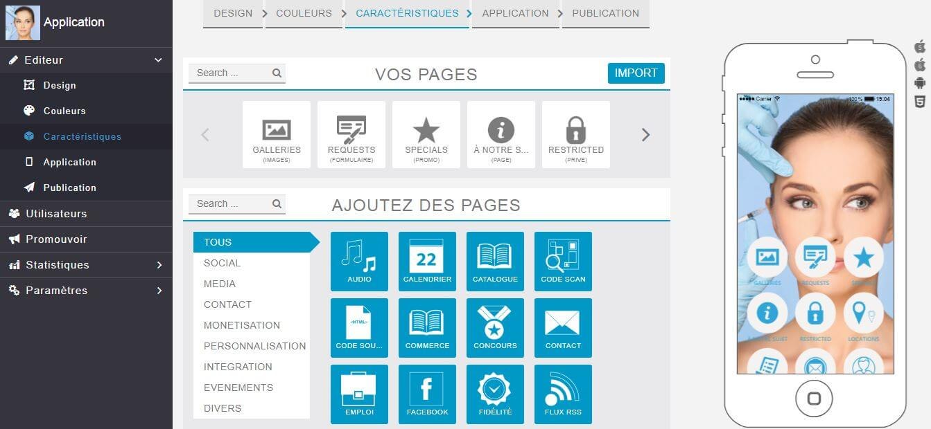 Application mobile de builderall qui permet de créer des applications
